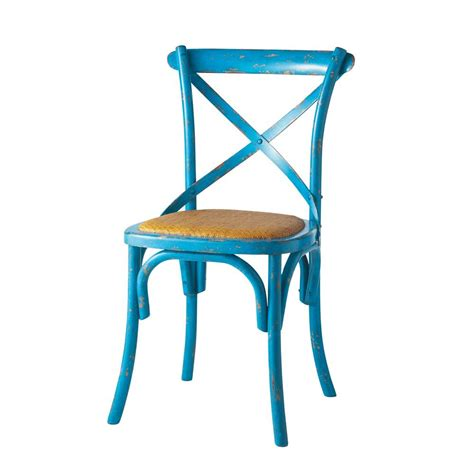 chaise bleue chaise bleue tradition maisons du monde