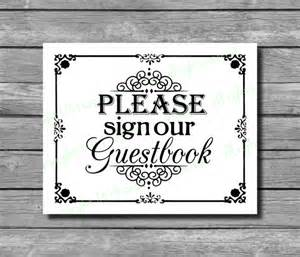 Please Sign Our Guestbook Wedding
