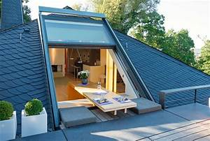 Dachfenster Mit Balkon Austritt : innovative dachfenster sunshine wintergarten ~ Indierocktalk.com Haus und Dekorationen