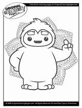 Coloring Pages Yeti Snow sketch template