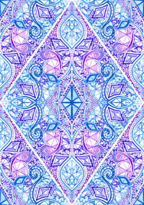 diamond doodle  purple blue  white wallpaper