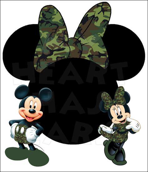 mickey  minnie camo  minnie mouse head instant