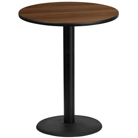 36 round counter height table flash furniture 36 39 39 round walnut laminate table top with