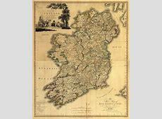 Map Depicting Ireland circa 1798