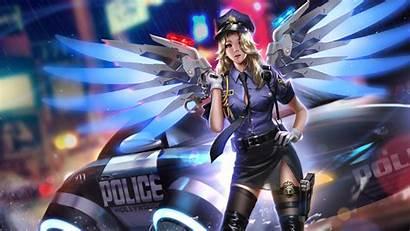 Overwatch Police Mercy Wallpapers 1080p Laptop Deviantart