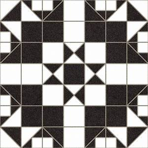 Victorian Black and White Mosaic Effect Floor Tile