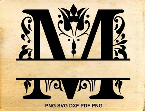 regal split monogram svg regal font split monogram svg