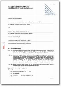 Mietvertrag Mit Mindestlaufzeit : hausmeistervertrag mit werkswohnung und mietvertrag de ~ Lizthompson.info Haus und Dekorationen