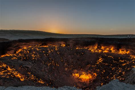 door  hell geological feature  turkmenistan