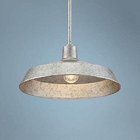 galvanized metal  wide industrial pendant light