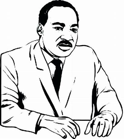 Coloring Pages Mlk Luther Martin King Getcolorings