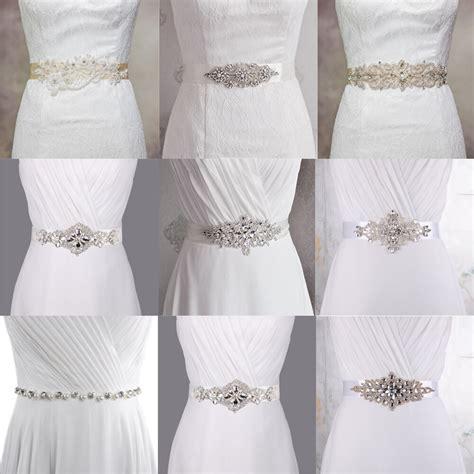 Whiteivory Bridal Sash Belt Wedding Dress Accessory