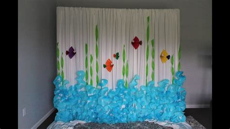 Diy Theme Backdrop by Coffee Filter Backdrop Diy The Sea