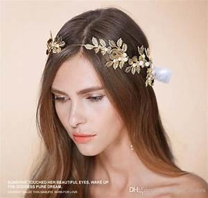 Gold Leaves Wedding Tiaras Hairband Bridal Hair