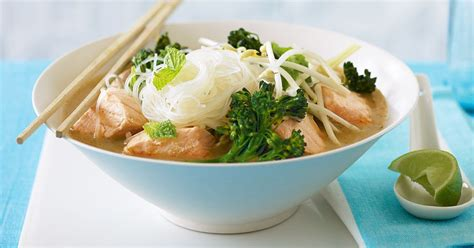 For this low carb salmon recipe, you can use any type of salmon that you prefer; Low-fat salmon laksa