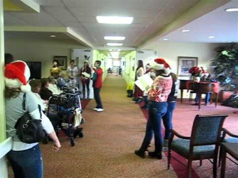 christmas nursing home silent bel canto carolers nursing home tour 2011