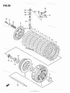 Suzuki Atv 2003 Oem Parts Diagram For Clutch  Model K3  K4