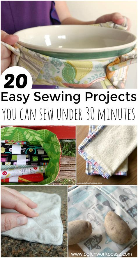 30 Minute Sewing Projects for when you need something sewn