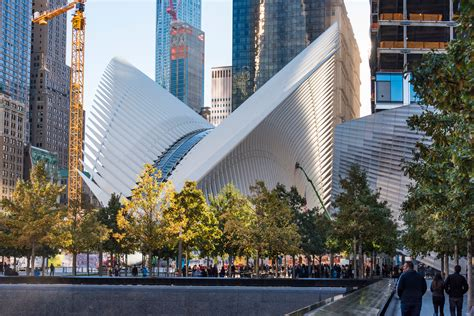 santiago calatrava   world trade center transportation hub architectural digest