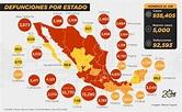 Mapa de casos por coronavirus en México 3 de noviembre de ...