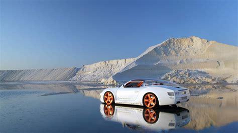 orange wheels   white car hd wallpaper