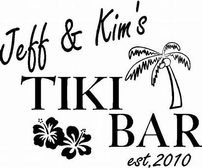 Tiki Bar Clipart Wall Lettering Graphics Words