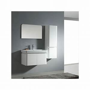 meuble salle de bain sd023 800 coloris blanc salledebain With meuble salle de bain online