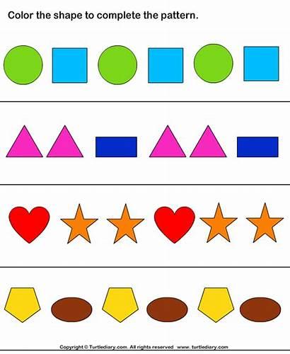 Shapes Patterns Worksheet Shape Pattern Worksheets Complete