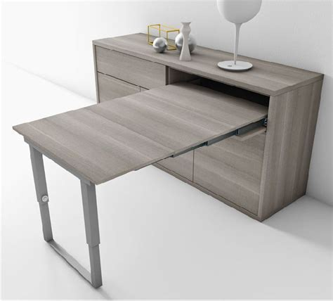 bureau escamotable murale un buffet qui se transforme en table 4 personnes en