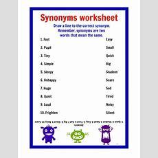Printable  Synonyms Worksheets