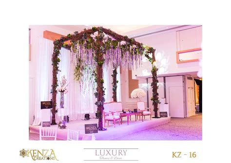 Wedding stage decor: Rustic Mandap Wedding stage Event