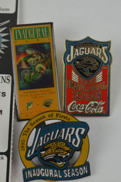 Jaguars Season Tickets by Lot Detail Jacksonville Jaguars Inaugural Season Collection