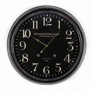 Ws black wall clock australia purely wall clocks for Black wall clocks australia