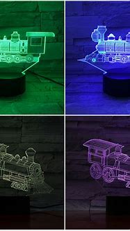 Locomotive Led Night Light Decoration 3d Illusion Train ...