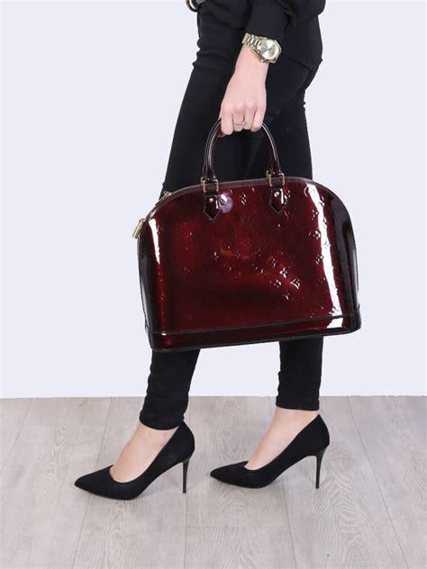 louis vuitton alma gm monogram vernis leather amarante luxury bags