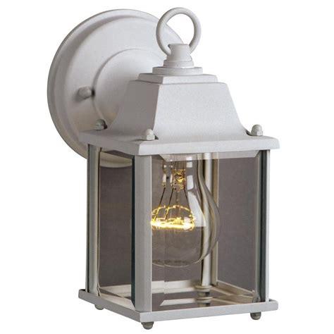 filament design negron 1 light white outdoor wall lantern