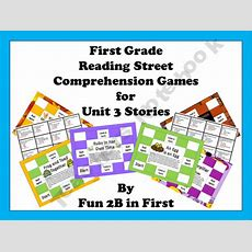 First Grade Reading Street Comprehension Games For Unit 3  Teacher Created Games Pinterest