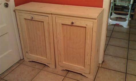 woodwork build wooden trash bin  plans