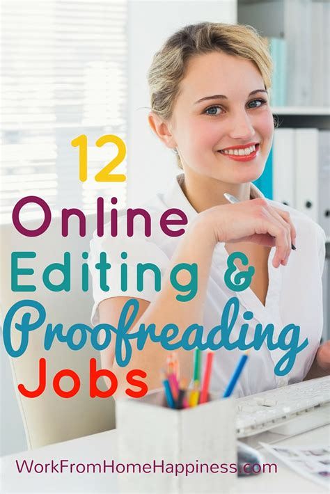 12 Online Editing And Proofreading Jobs  Work From Home Happiness
