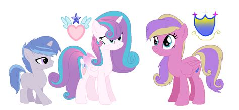 Mlp Ng Shiningdence Foals By Honestyponypaints On Deviantart