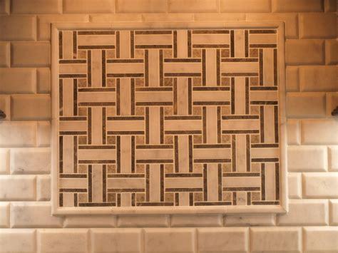mosaic tile basket weave with beveled subway tile contemporary newark by kraftmaster