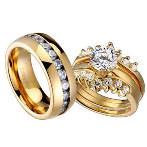 wedding band set his and hers wedding rings for and wedding promise
