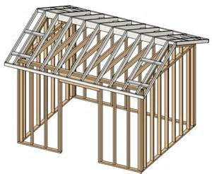 10x12 Shed Frame Kit by Small Garden Sheds 10 X 12 Materials List Pro Barn Plans