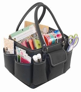 Jo-Ann Scrap Essentials Mini Tote Teal And Black Jo-Ann