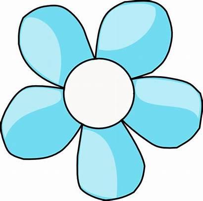Flower Center Turquoise Clip Clipart Vector Clker