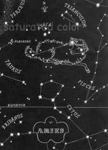 Night Sky Star Chart Constellations