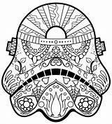 Coloring Wars Sugar Stormtrooper Skull sketch template