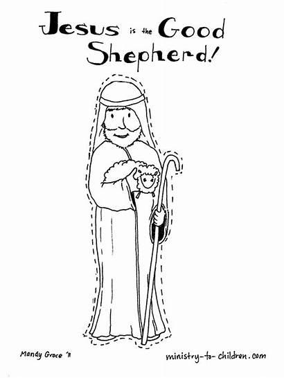 Shepherd Coloring Psalm Jesus Children Bible Psalms