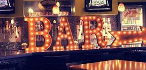 vintage marquee lighted letters eclectic home decor With bar marquee letters