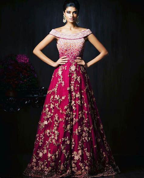 gorgeous  indian reception gown styles  indian